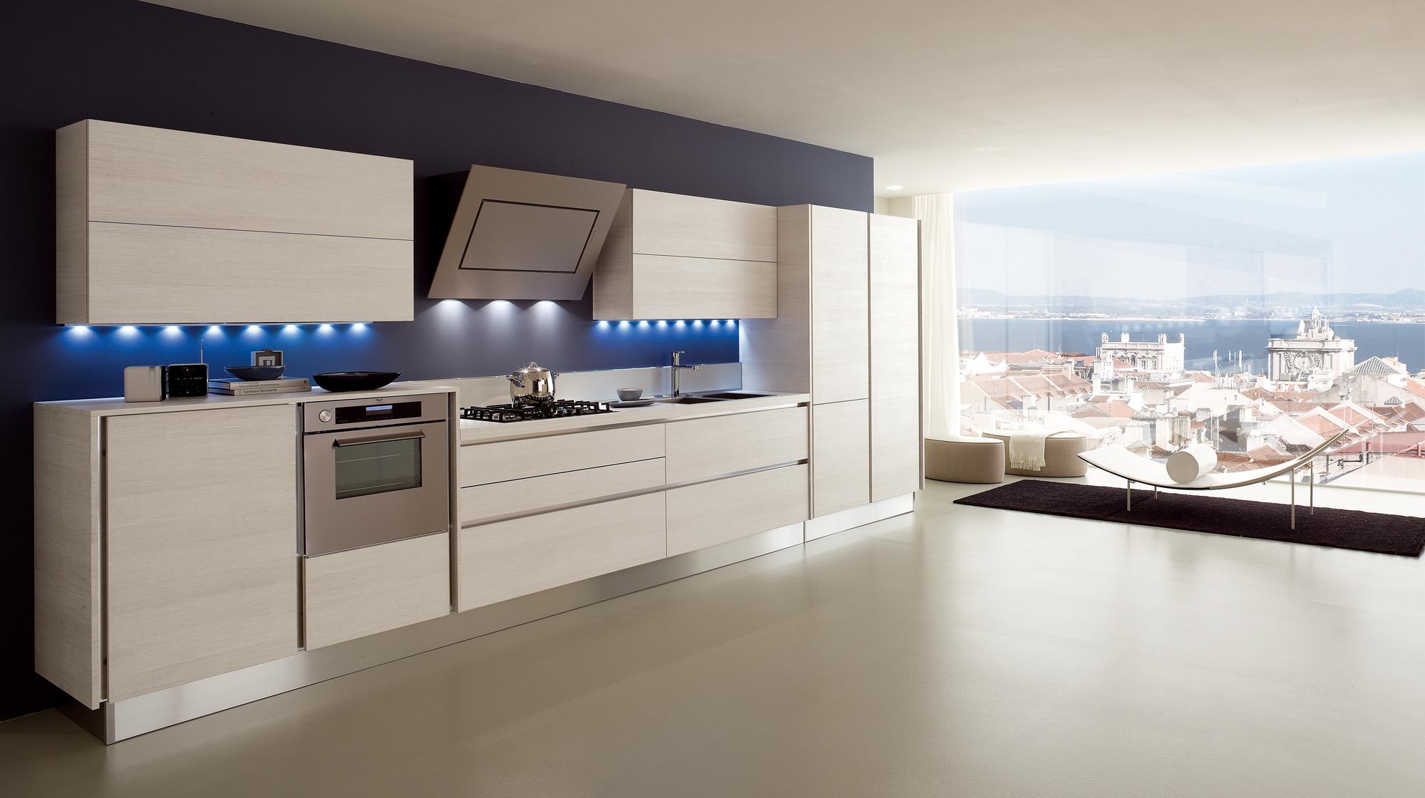 Veneta Cucine - <p>Modello Dialogo</p><p>Finitura Rovere poro aperto ...